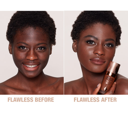 Airbrush Flawless Foundation 16 Neutral Before and After