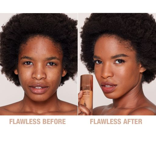 Airbrush Flawless Foundation 11 Neutral Before and After