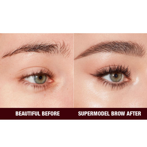 Before and After Close Up Eyebrow Image in Shade Natural Brown