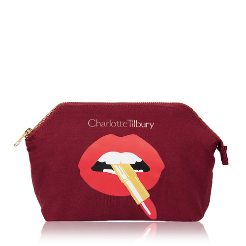 Hot Lips Makeup Bag with Hot Lips logo
