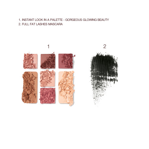Gorgeous Glowing Makeup Kit Swatch Shot