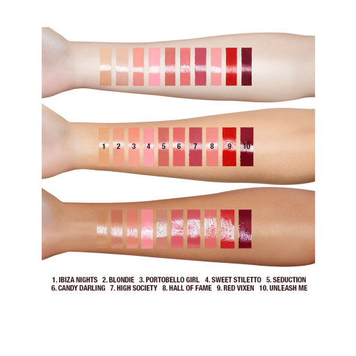LIP LUSTRE ARM SWATCHES