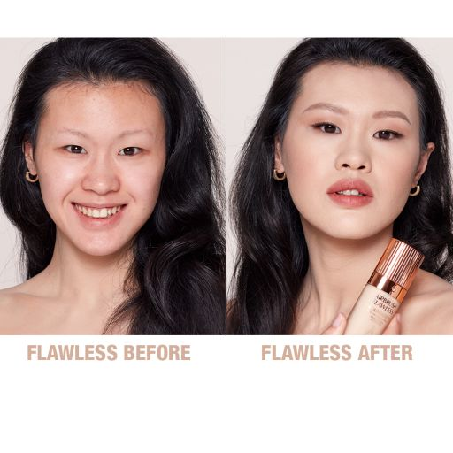 Airbrush Flawless Finish Foundation 3 warm before and after