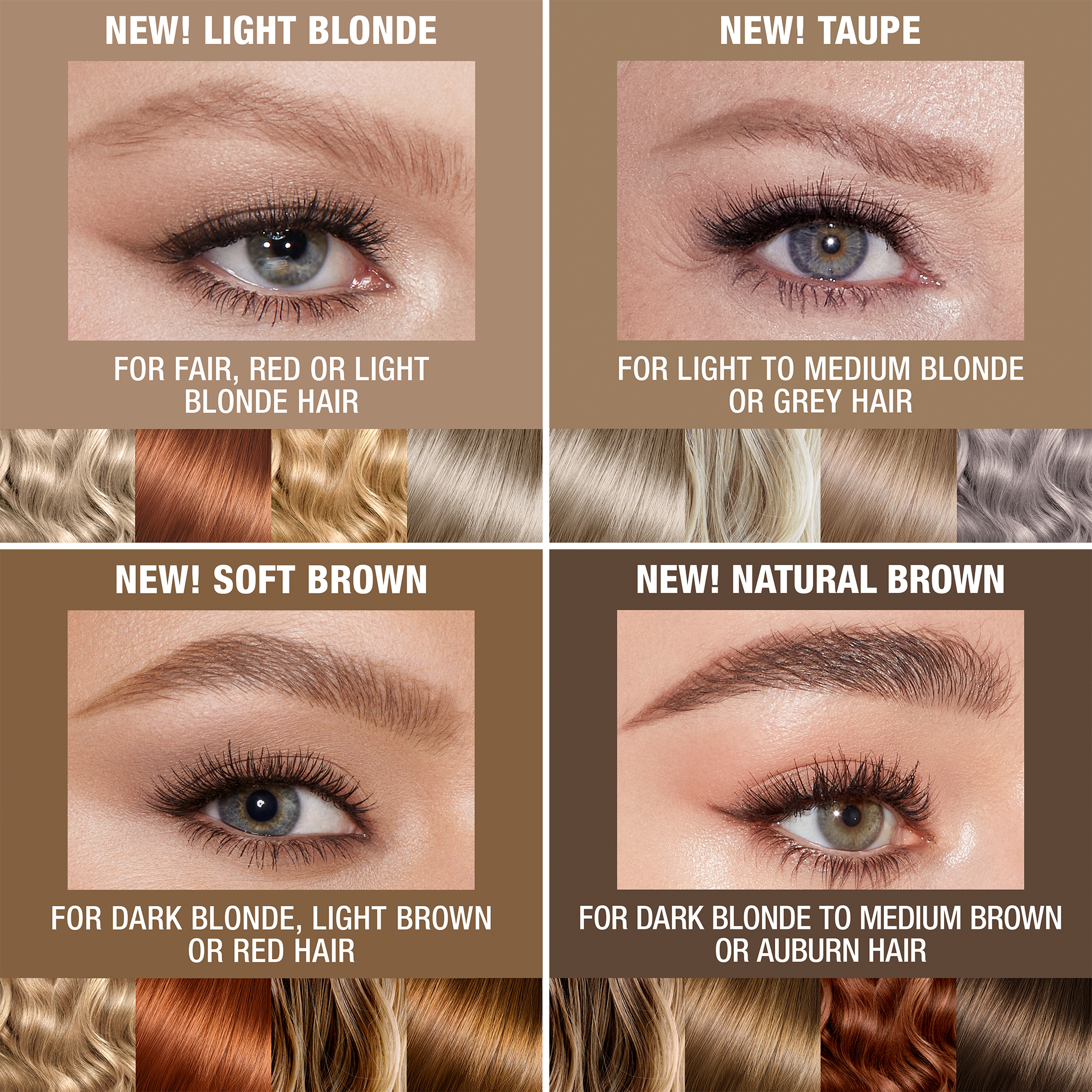 Brow HairColour ShadeFinder 4Shades Light
