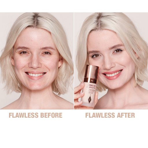 Airbrush Flawless Foundation Before and After Model