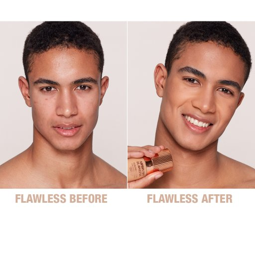 Airbrush Flawless Finish Foundation 8 warm before and after