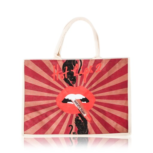 Hot Lips 2  Magic Panther Design Tote Bag