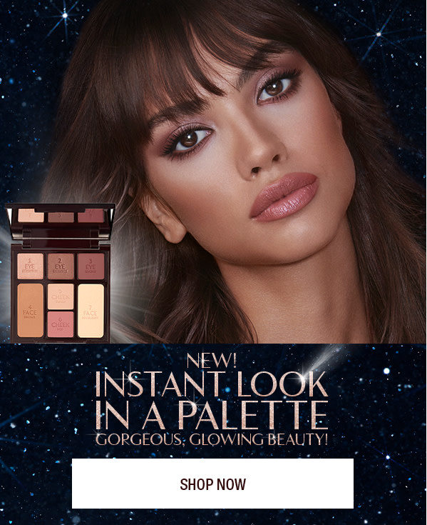 Instant Look in a Palette Gorgeous Glowing Beauty and model
