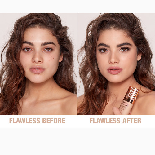 Airbrush Flawless Foundation 5 neutral before and after