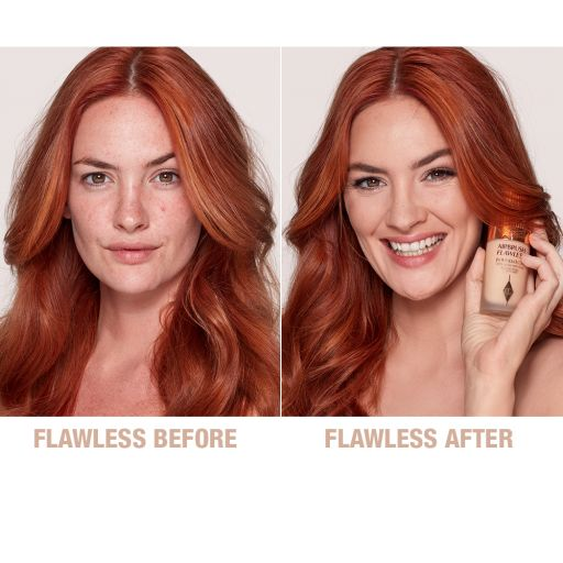 Airbrush Flawless Finish Foundation 5 cool before and after