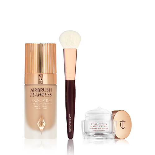 Airbrush Flawless Foundation Kit with Magic Complexion Brush and Magic Cream