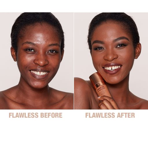 Airbrush Flawless Foundation 14 Neutral Before and After