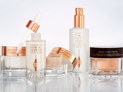 Skincare collection pack shots