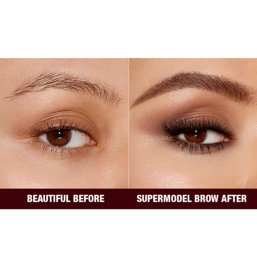 Before and After Close Up Eyebrow Image in Shade Medium Brown