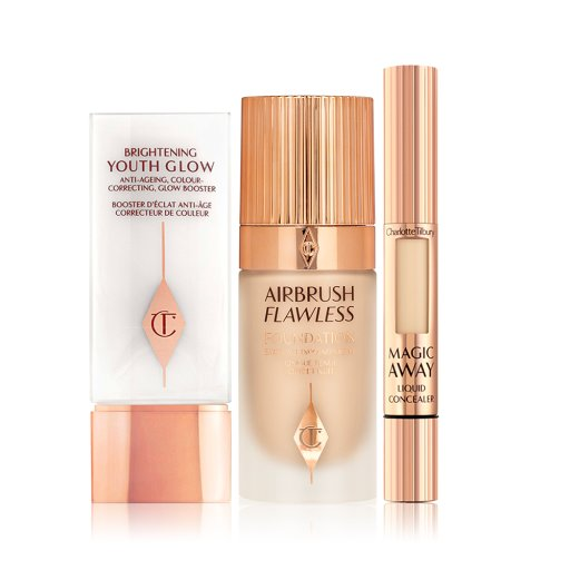 Brightening Youth Glow, Airbrush Flawless Foundation and Magic Away