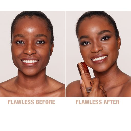 Airbrush Flawless Foundation 13 Neutral Before and After