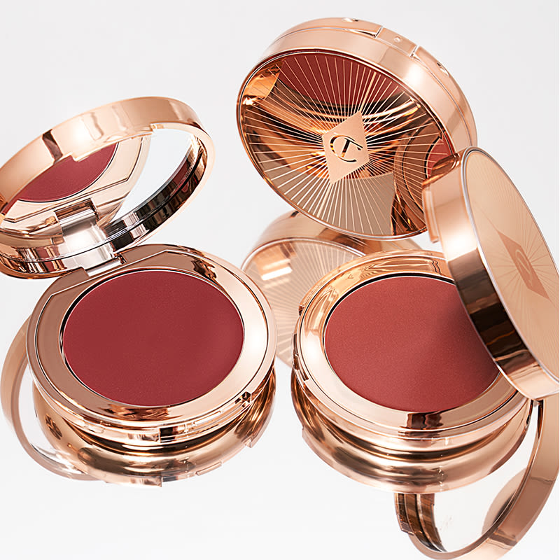 Pillow Talk Lip & Cheek Glow lip and cheek balm compacts still life image