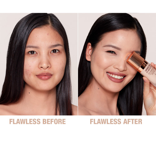 Airbrush Flawless Foundation 4 neutral before and after