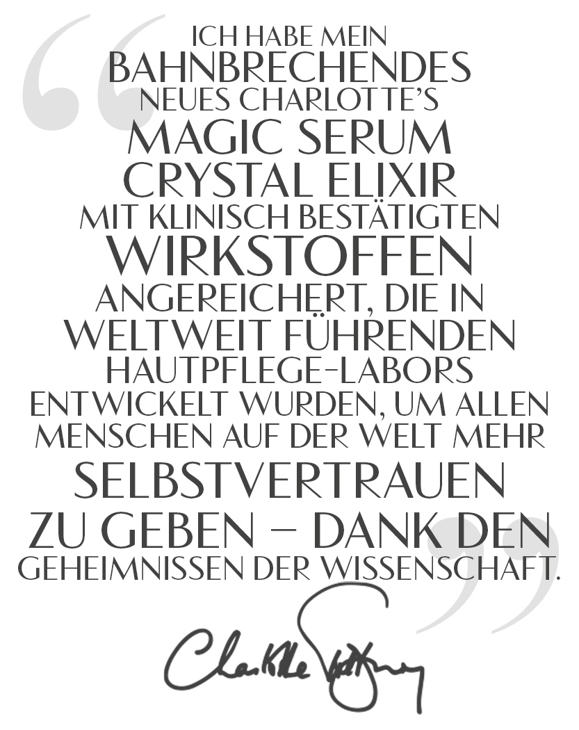 Magic Serum Charlotte Quote German