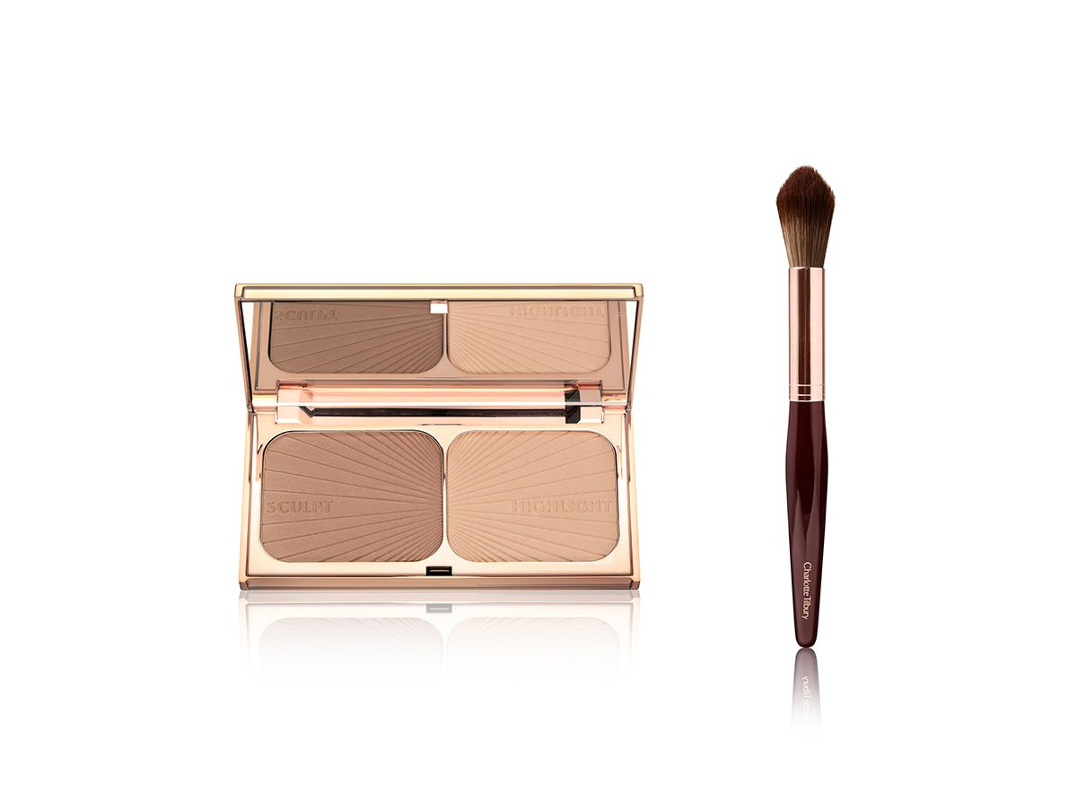 Filmstar bronze and glow. Powder and sculpt brush