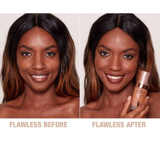 Airbrush Flawless Foundation 13 Cool Before and After