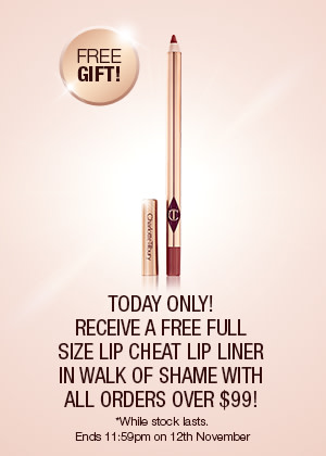 Receive a free Walk of Shame Lip Liner