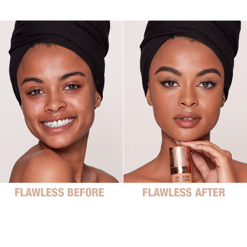 Airbrush Flawless Foundation 12 Cool Before and After