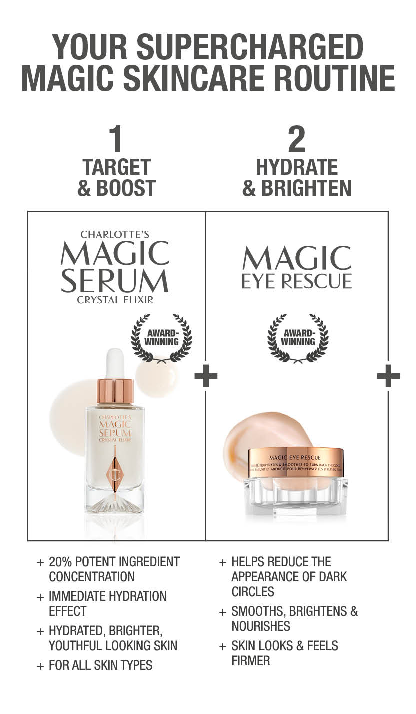 Charlotte's Magic Skincare Routine including Serum