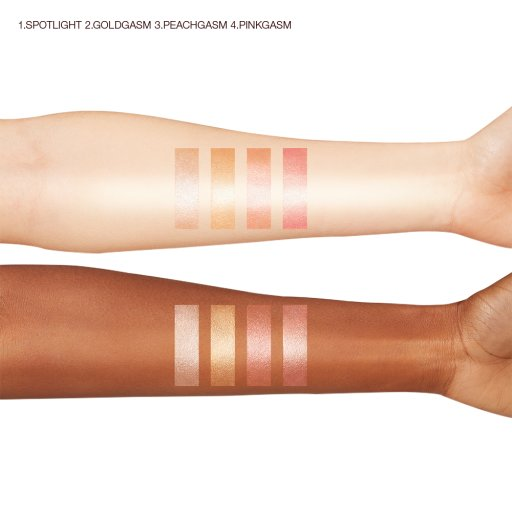 Glowgasm Beauty Light Wands Arm Swatches