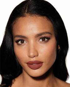 Charlotte Tilbury Matte Revolution The Birkin Brown Lipstick Lips Model