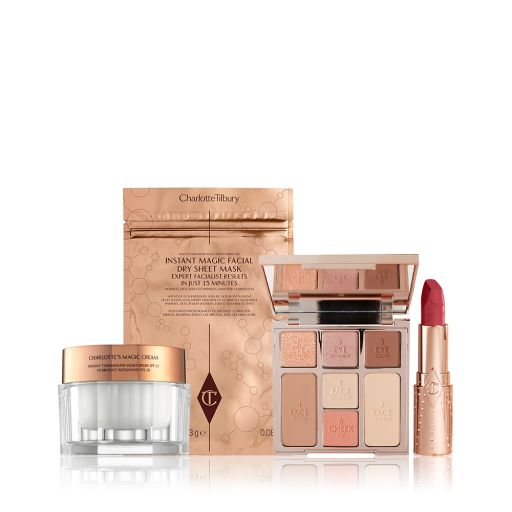 Look of Love bundle with Instant Look in a Palette, Lipsticks, Sheet Mask and Magic Cream 50ml