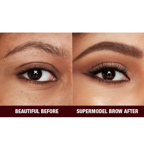 Before and After Close Up Eyebrow Image in Shade Dark Brown