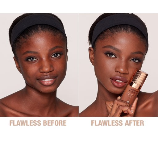 Airbrush Flawless Foundation 15 Neutral Before and After