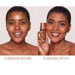 Airbrush Flawless Foundation 12.5 Warm Before and After