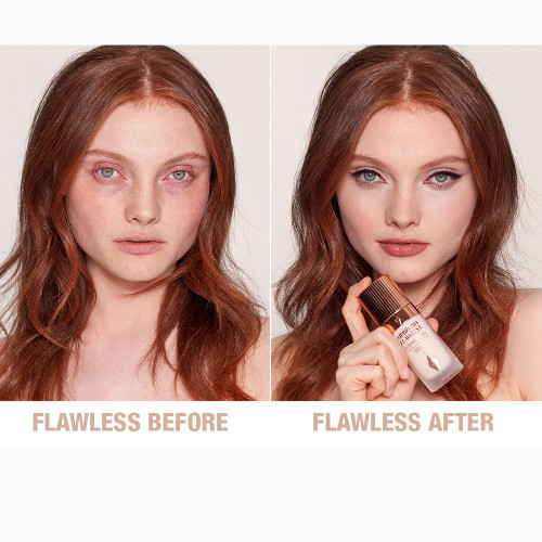 Airbrush Flawless Foundation 2 neutral before and after