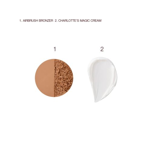 Magic Cream and Airbrush Bronzer Swatch