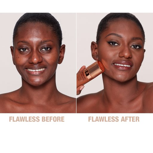 Airbrush Flawless Foundation 15 Warm Before and After