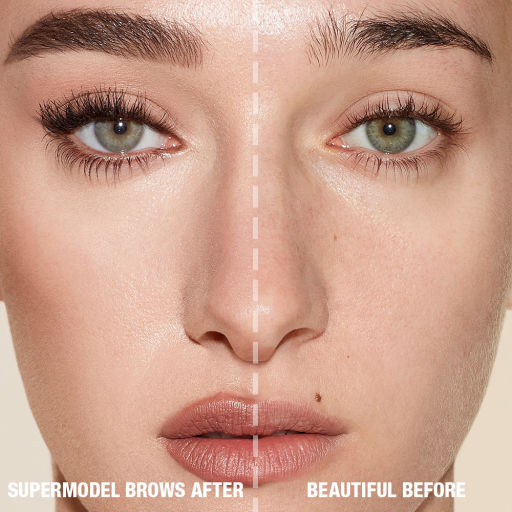 Before and After Model for Brow Products in Natural Brown