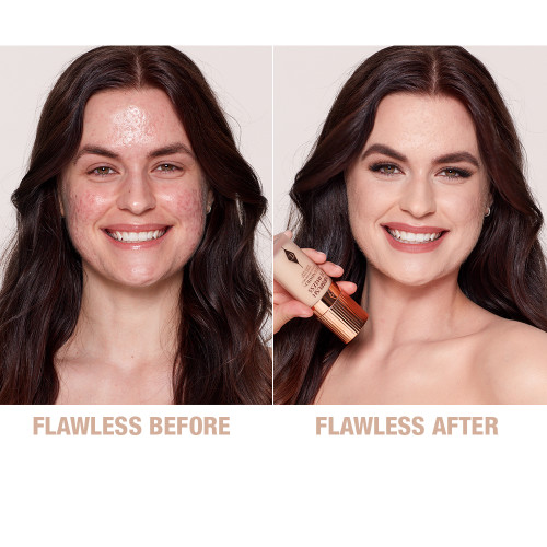 Airbrush Flawless Finish Foundation 3 neutral before and after