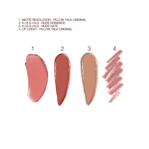 Charlotte's Nude Lipstick Kit Swatches