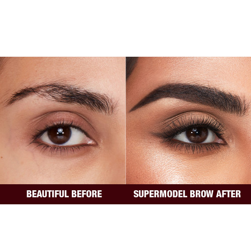 Before and After Close Up Eyebrow Image in Shade Black Brown
