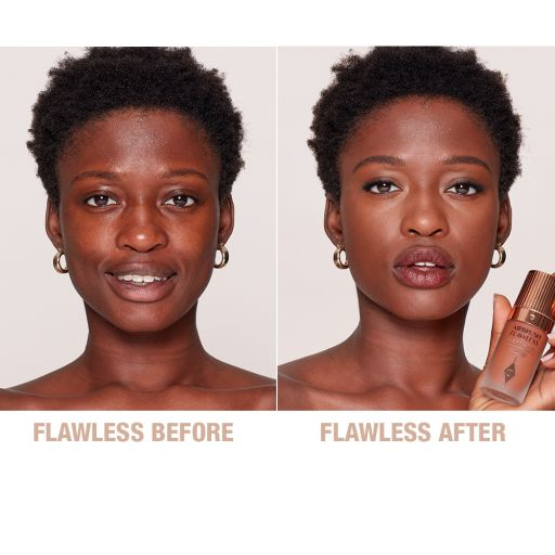 Airbrush Flawless Foundation 15.5 Cool Before and After