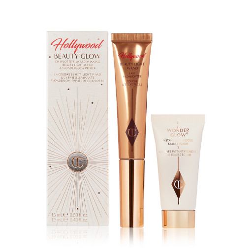 Hollywood Beauty Glow Bundle Packshot Including  Beauty Light Wand and  Wonder Glow