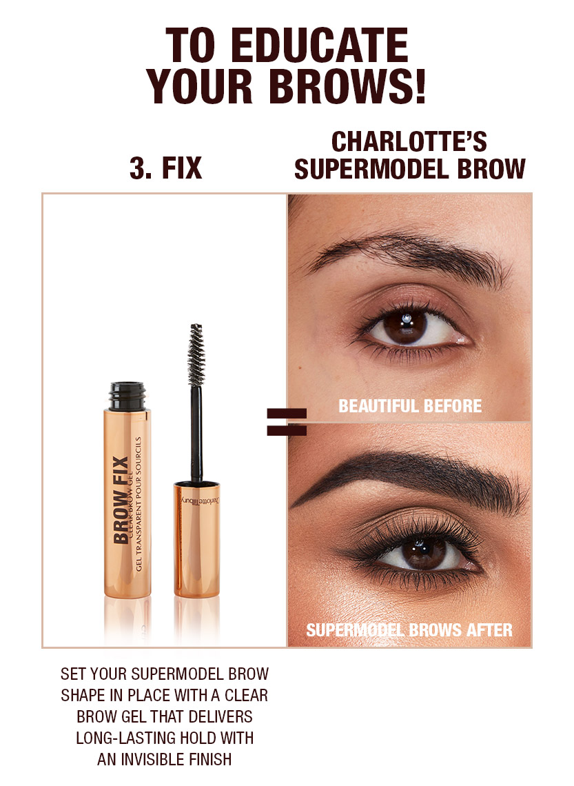 Supermodel brows 3 step routine Black Brown