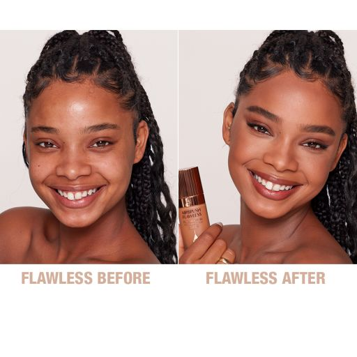 Airbrush Flawless Foundation 11 Cool Before and After