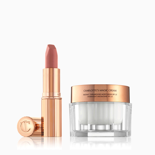 Best Selling Iconic Duo with Magic Cream Moisturiser and Matte Revolution Pillow Talk Lipstick
