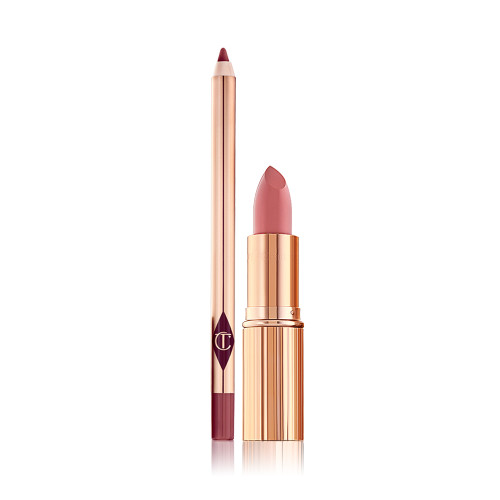 K.I.S.S.I.N.G The Duchess lipstick and Lip cheat Pink Venus lip liner