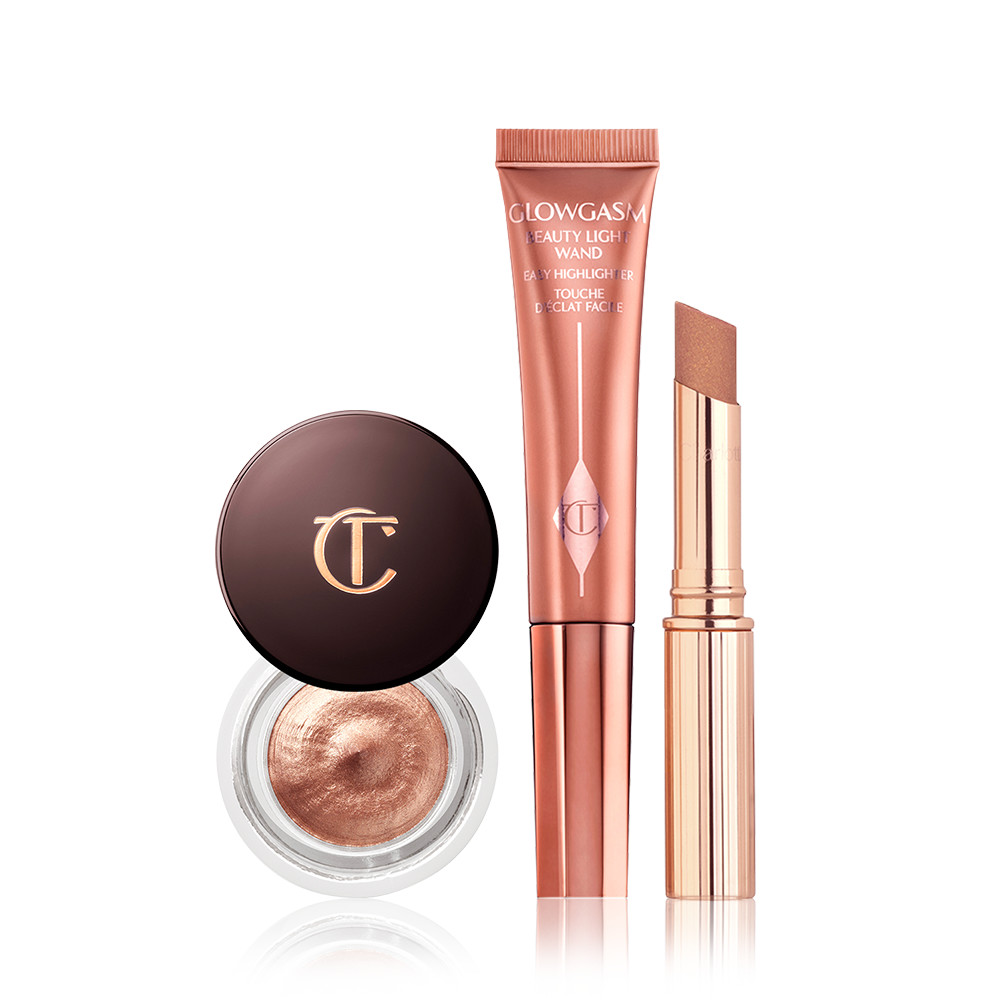 A magical $11 saving for eyes, lips and cheekbones that glow with shimmering crystal light!