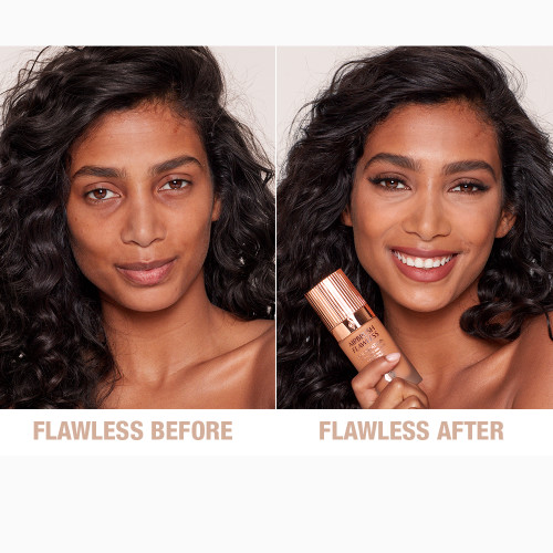 Airbrush Flawless Foundation 10 Neutral Before and After