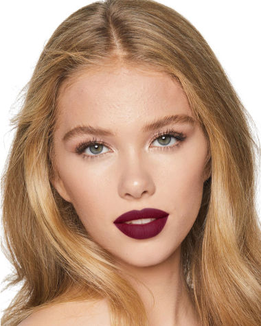 Charlotte Tilbury Matte Revolution Glastonberry Lipstick Lips Model Light